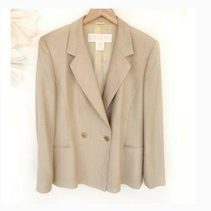Escada Vintage Silk Wool Blend Blazer/Jacket